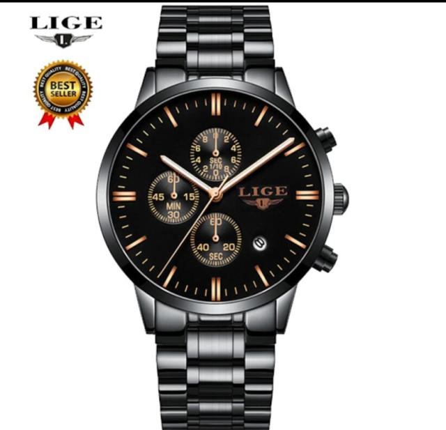 LIGE Watch Men Fashion Sport men's watch Quartz Clock top Brand Luxury Full Steel Waterproof Mens Watches Masculino 9845 | Fotoflaco.net