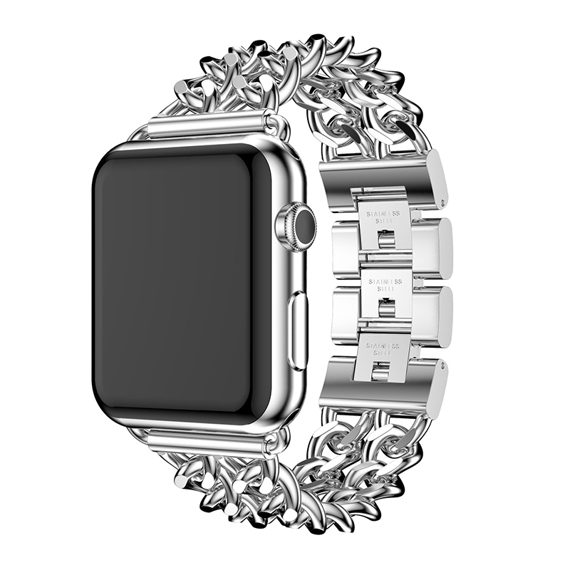 Band For Apple Watch Band 38mm 42mm Alloy Steel Strap For IWatch Band Series 1 2 3 4 40mm 44mm Chain Bracelet Style New Gold