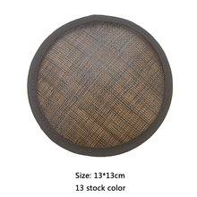 5.1(13cm) Sinamay Round Base For Fascinator Hat Circle 20pcs/lot #13Color Free Shipping