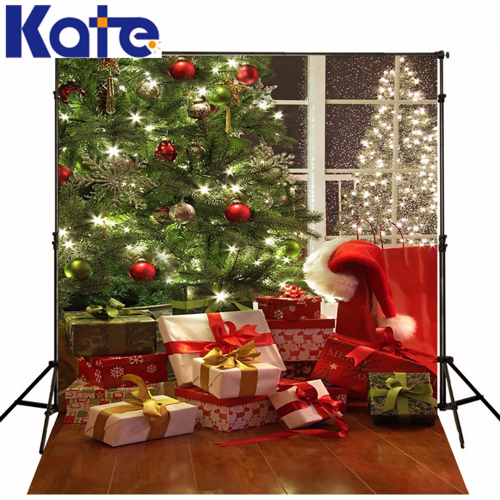 Kate Digital Printing Christmas Background Backdrops Trees Christmas Holiday Gift  Wood Floor Photography Backgrounds Zj kate winky stage photography background christmas gift snow fireplace light photography backdrops snow spray chimenea navidad