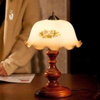תאורת אופנה מנורת שולחן שליד המיטה אמריקנית בציר אופנה מנורת שולחן עץ תאורת עמעום