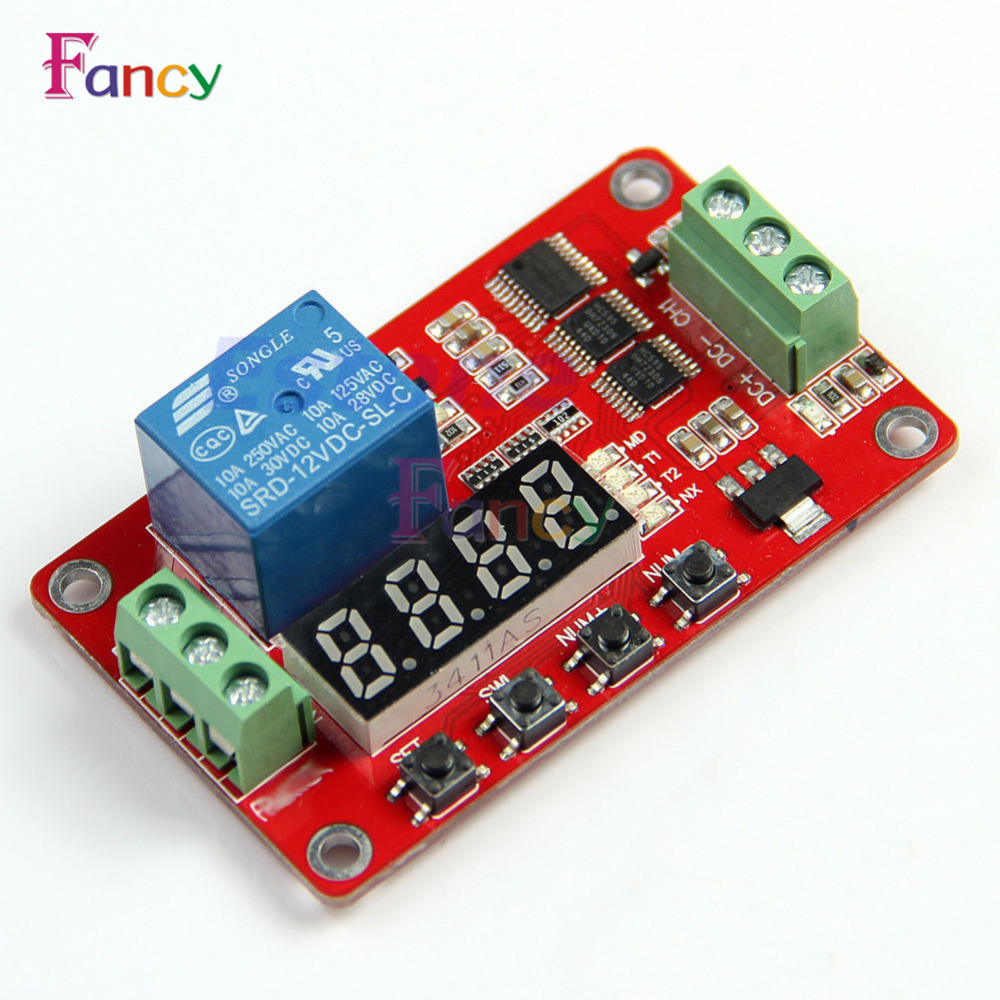 12V DC Multifunction Auto-lock Relay PLC Cycle Timer Time Delay Switch Module