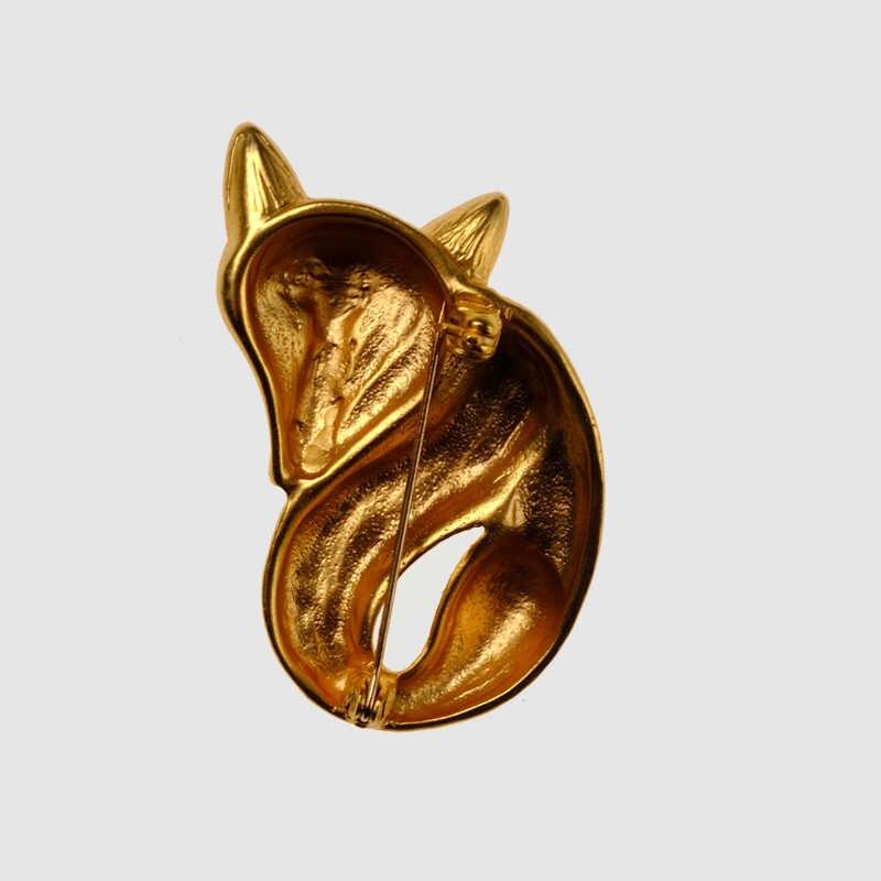 Amorita boutique colore dell'oro di Fox spille