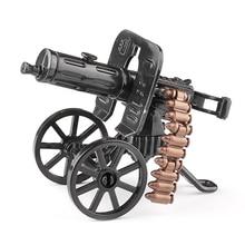 Военные войны тема DIY частиц оружие строительные Фигурки игрушки для строительный блок бренды Максим тяжелый машина бластер черный