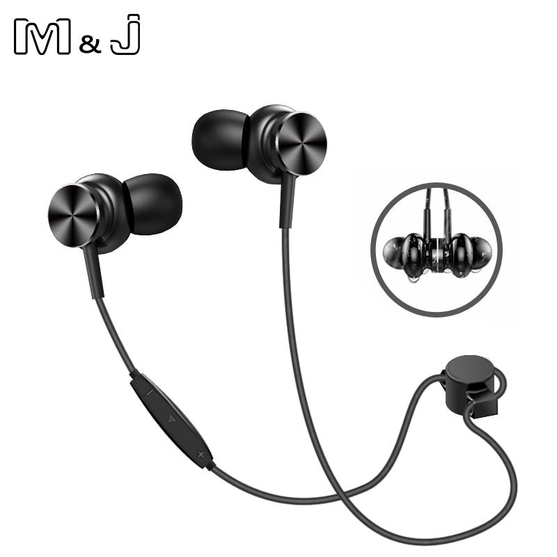M&J N3 IPX4-rated Sweatproof Headphones Bluetooth 4.2 Wireless Sports Earphones Running Aptx Earbuds Stereo Headset With MIC