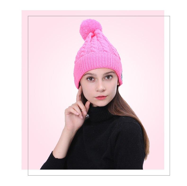 Vecdory Для женщин мода bluetooth наушники музыка hat <font><b>Smart</b></font> шапки спортивные наушники теплые шапочки зимняя шапка с Динамик Mic