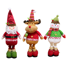 Hot Sale High Quality Santa Claus Snow Man Reindeer Doll Christmas Decoration Xmas Tree Hanging Ornaments Pendant Best Gift