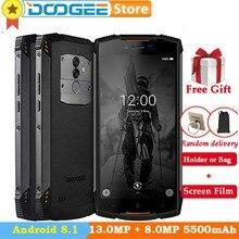 DOOGEE S55 Lite IP68 Su Geçirmez Telefon Android 8.1 2 GB 16 GB 5500 mAh MTK6750T 5.5 ''Çift SIM 13.0MP parmak izi Kilidini Smar...