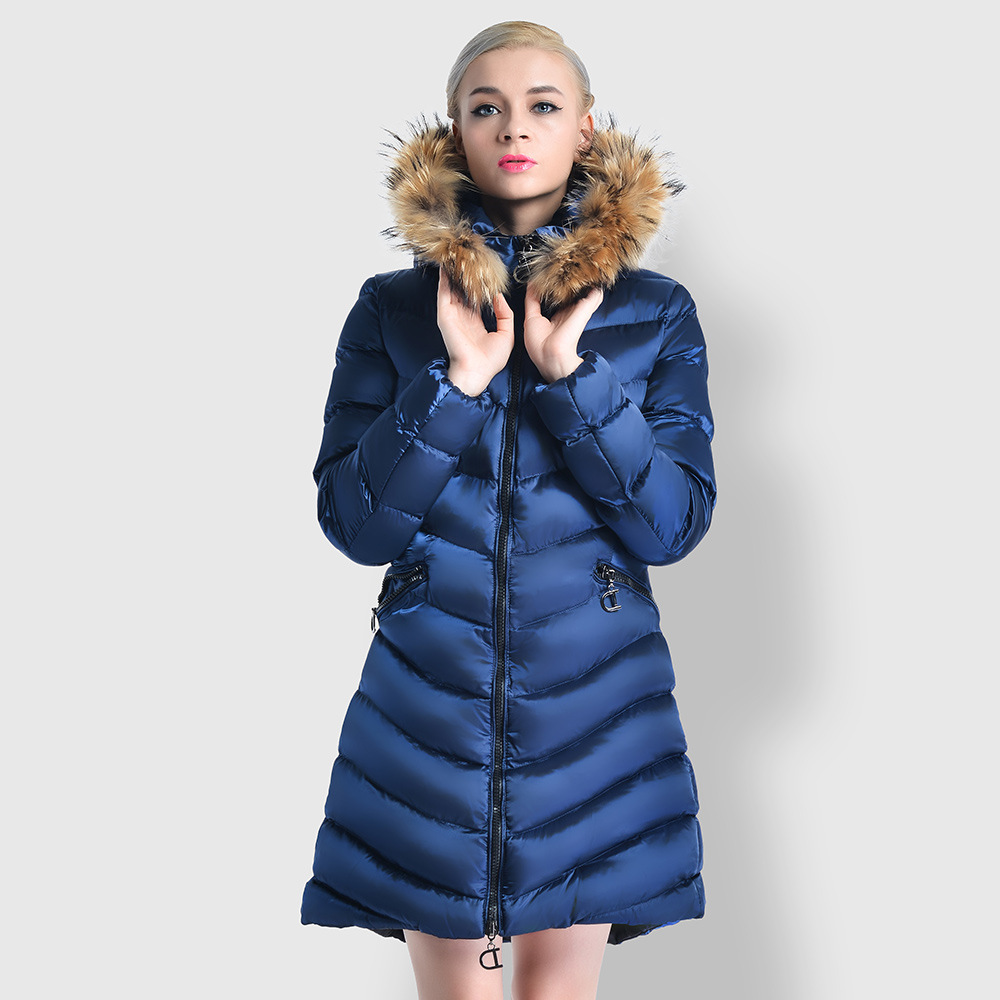 2017 winter new Korean version of the hooded fur collar long paragraph ladies cotton YYN6609 free shipping new arrival 2015 ladies korean version of cultivating all match thickening cotton vest with fur collar