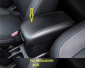 Image 1 - Customzied Microvezel Leer Center Armsteun Cover Voor Mitsubishi ASX Auto decoratie Interieur upgrade