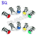 Free shipping 10pcs/lot CHROME Plated illuminated arcade push button 12v LED Arcade Start Push Button with microswitch