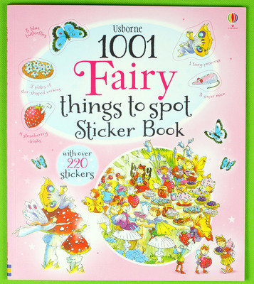 1001 Fairy Things to Spot Sticker Book  children sticker books English children's picture book ultimate sticker book dangerous dinosaurs