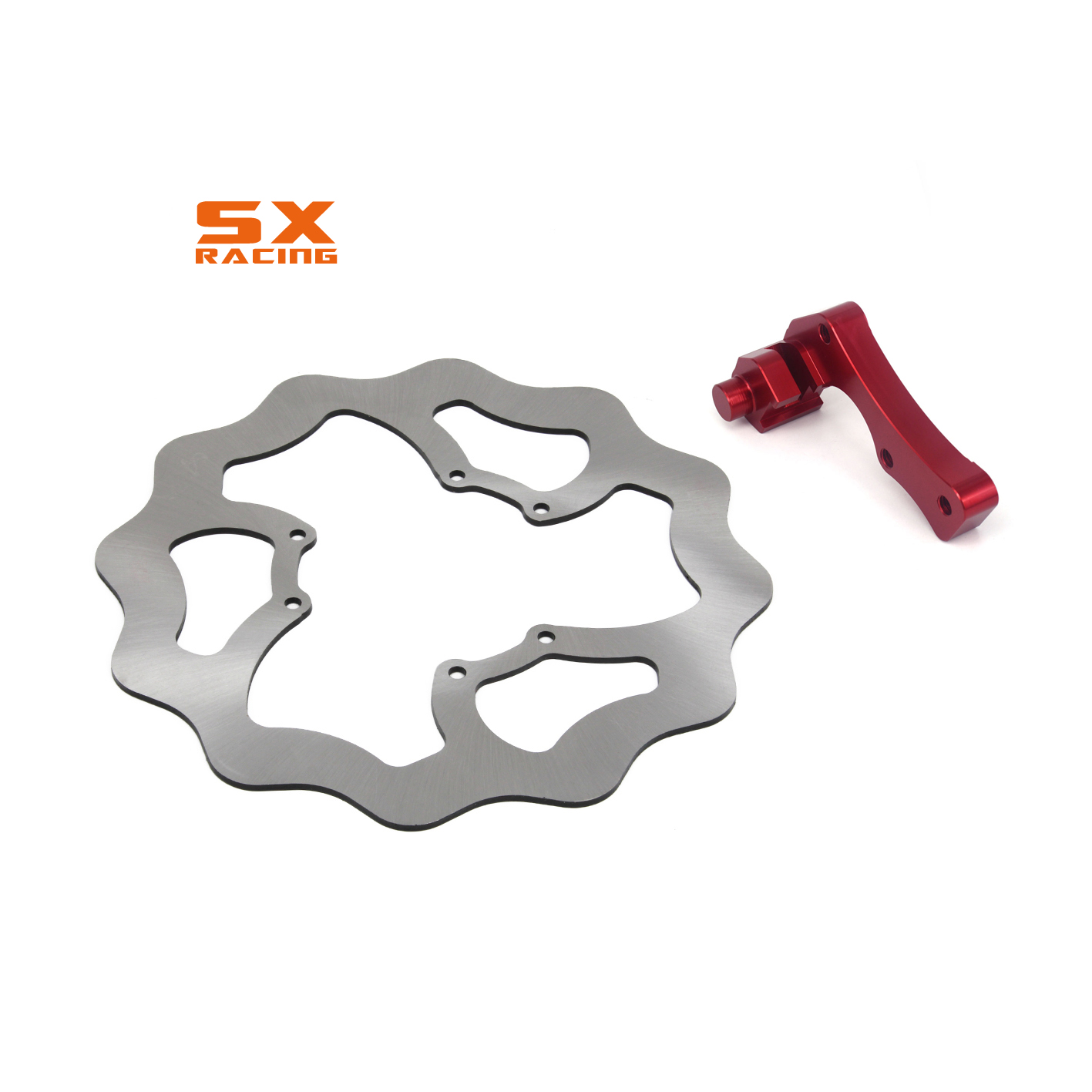 270mm Motorcycle Front Brake Disc Rotor & Adapter Bracket For HONDA CR125E 250 CR125R 250 CRE250F CRF250R CRF450R CRF450X motorcycle brake disc rotor for honda 125 250 pantheon 98 07 250 forza jazz foresight for peugeot sv250 02 07 cagiva elefant