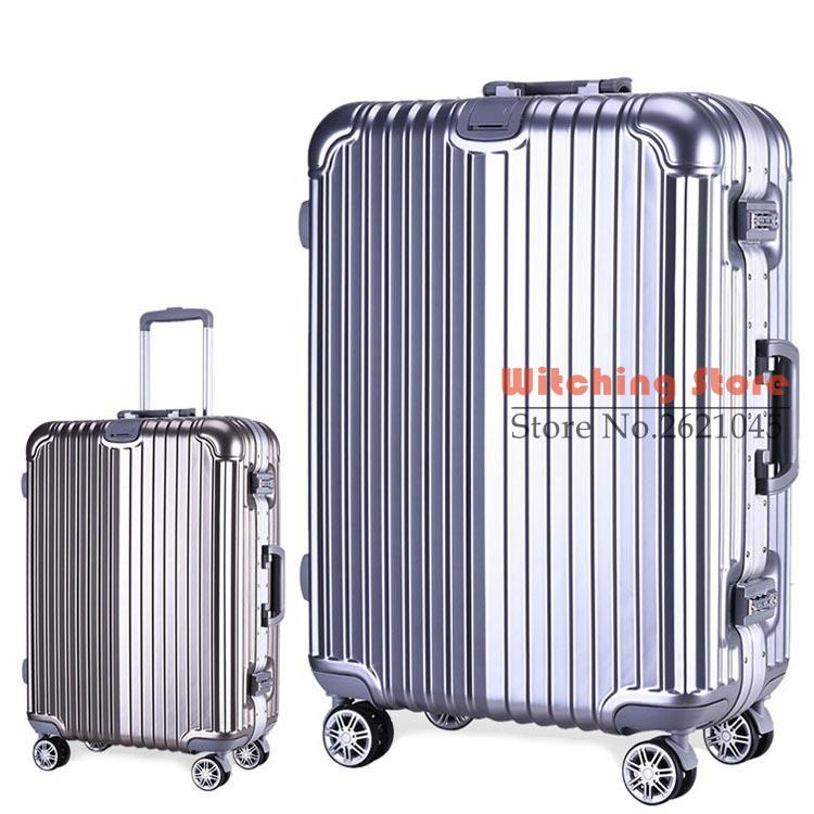 28 INCH 20242629# On the rod aluminum frame caster password 2028 board chassis business travel luggage box #EC FREE SHIPPING 24 inch 20242629 direct aluminum frame rod universal wheel luggage suitcase board box bags and one generation ec