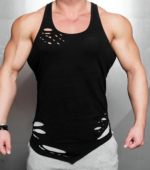 Cracked Rust Marble Tank Vest Men Gym Wear Top BODYBUILDING TANK Muscle Fitted