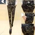 2016 Nueva Corea Del Estilo de Moda Traje de Los Hombres Pantalones Casuales Delgado Calidad EE.UU. Venta Caliente Fiesta de La Boda Del Todo-Fósforo Pantalones Masculinos