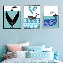 Abstract Creatively Whale Ocean Future Canvas Painting Wall Pictures Posters Prints Pop Living Room Home Decorations