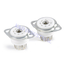 2pcs Vacuum Ceramic Sliver Tube socket 6C33 FU29 829B 7Pin B7A Base Audio Valve Guitar Amp Parts