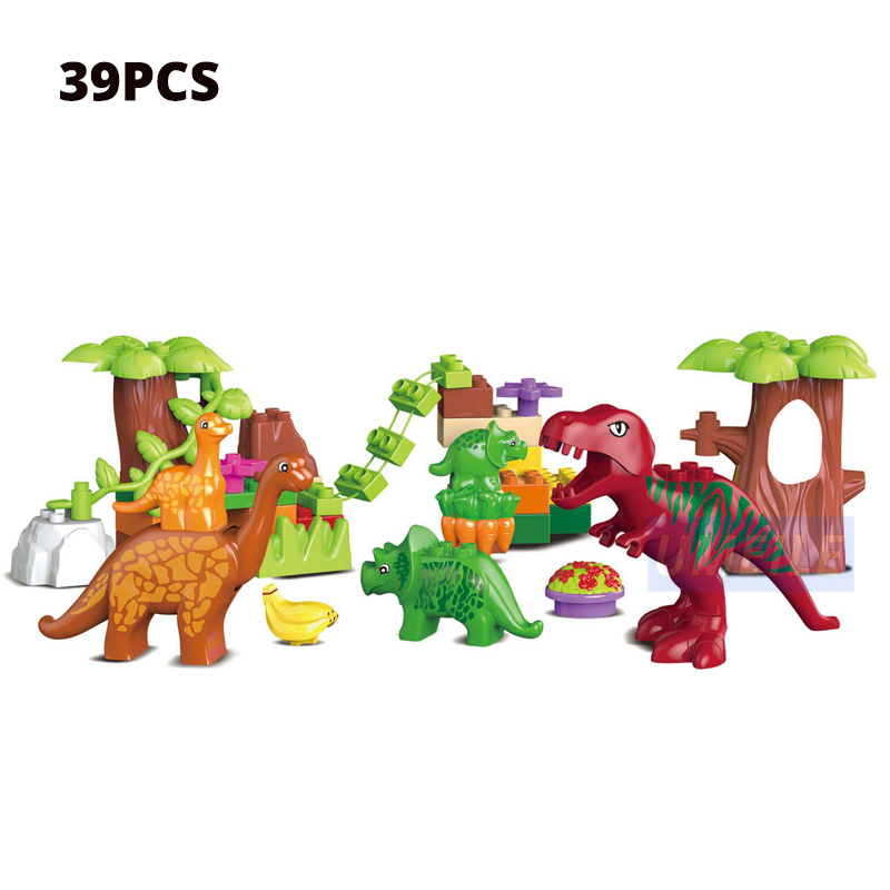 Image 2 - UMEILE 15/39/65/100 PCS Jurassic Dinosaur World Large Building Blocks Toys Animal Set Brick Compatible with brick Gift-in Blocks from Toys & Hobbies