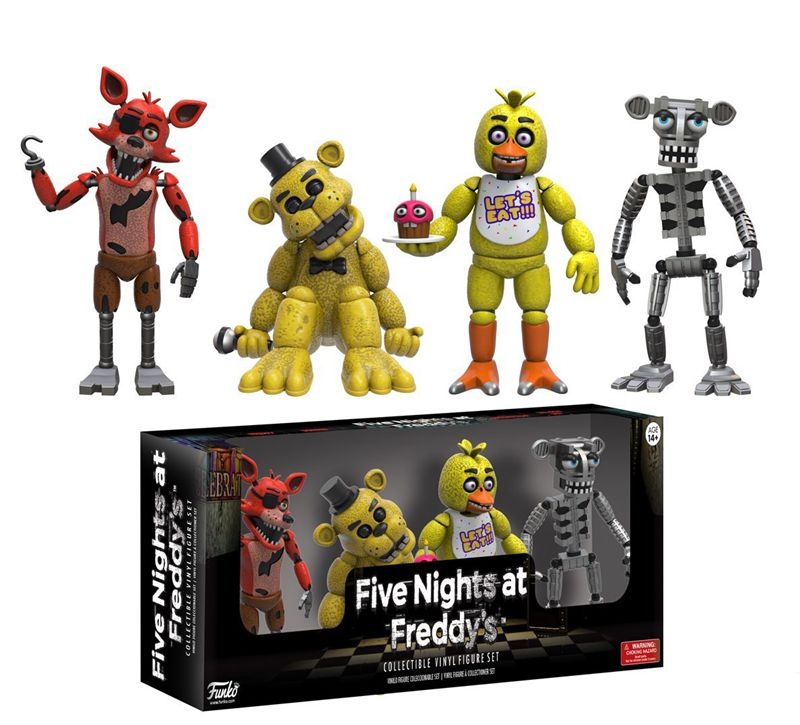 <font><b>4</b></font> <font><b>Pack</b></font> Official <font><b>Funko</b></font> <font><b>Five</b></font> <font><b>Nights</b></font> <font><b>At</b></font> <font><b>Freddy</b></font> Baby Articulated Action <font><b>Figure</b></font> 2'' Vinyl Collectible Model Toy with Original Box