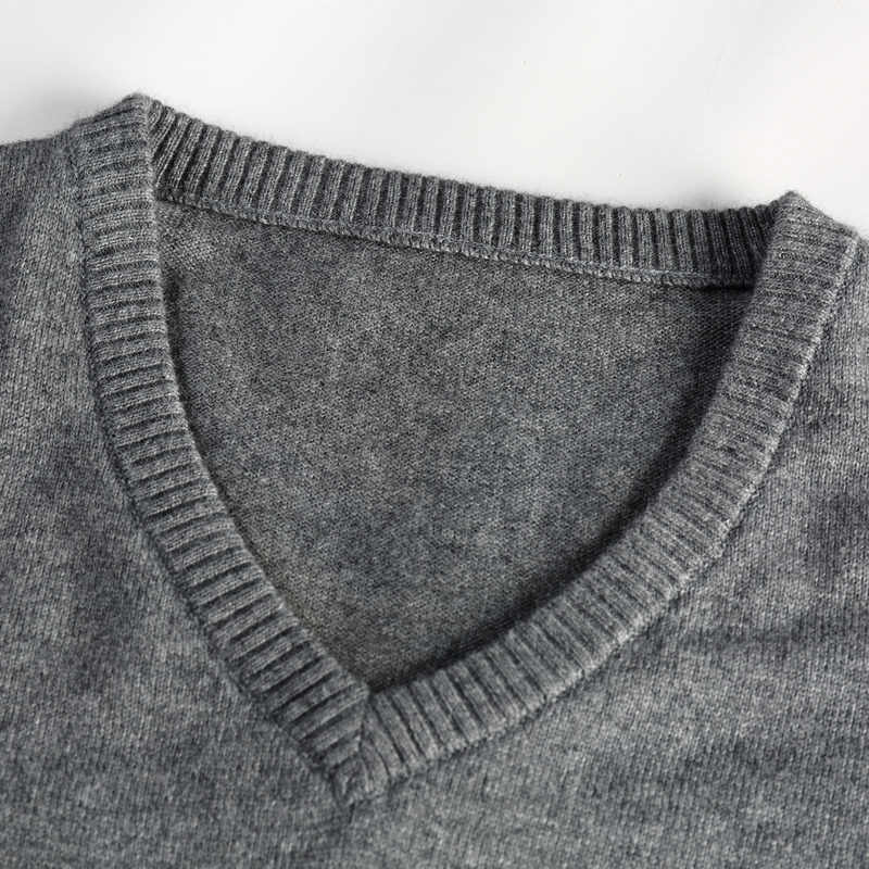 Spring and winter new flat V-neck men's cashmere sweater sweater men's long sleeve sets of sweaters
