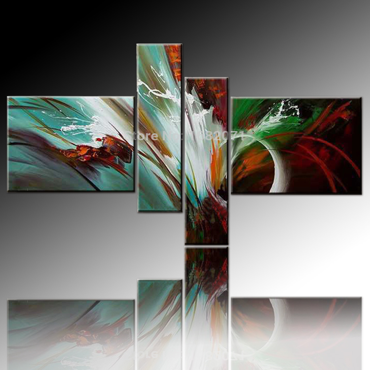 High Skills Artist Handmade Beautiful Colors Abstract Oil Painting On  Canvas Modern Colorful Wall Art Pictures