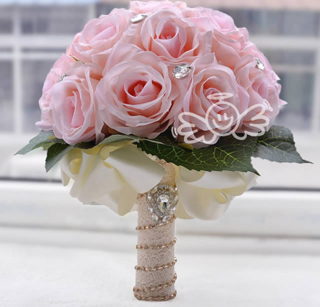 Artificial Silk White Red Pink Rose Wedding Decoration Flower ...
