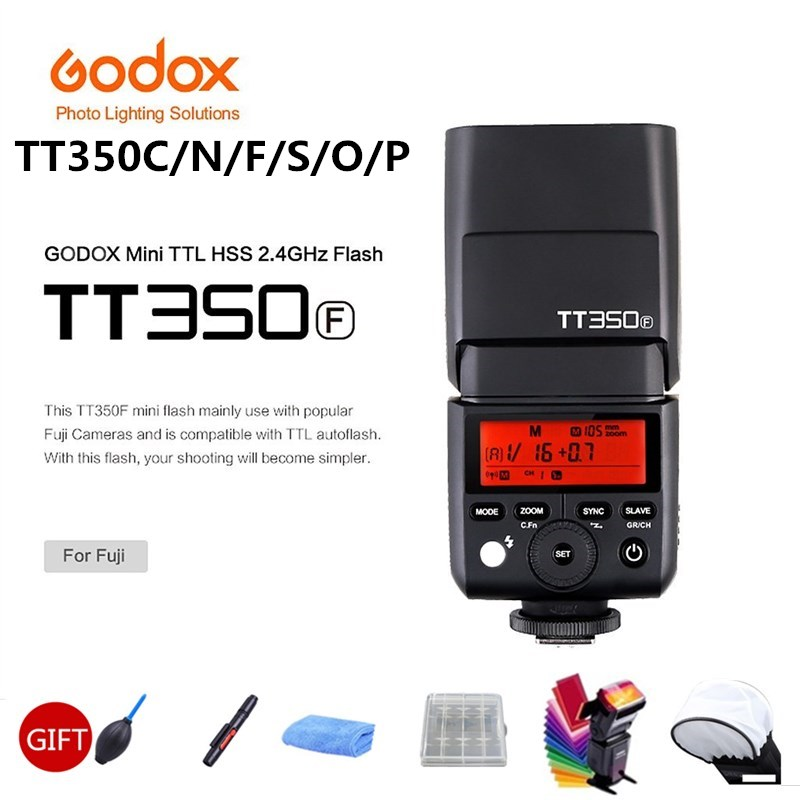 Godox TT350P TT350C TT350N TT350S TT350F TT350O Вспышка ttl HSS камера Вспышка speedlite для Canon Nikon sony Fuji Olympus камера