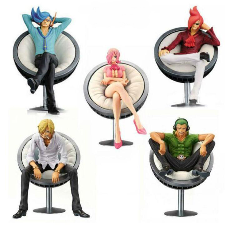 Anime <font><b>One</b></font> <font><b>Piece</b></font> Vinsmoke Family <font><b>Reiju</b></font> Sanji Yonji 11cm model action toys Sitting Posture PVC collection 11cm gift image