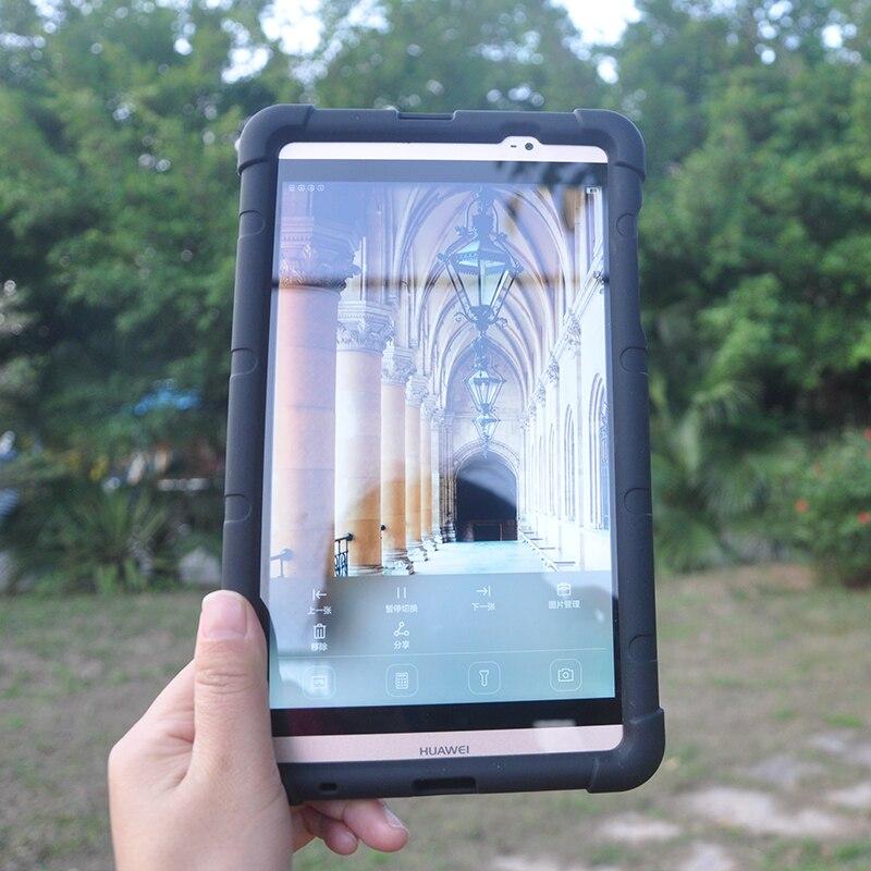 MingShore Pour Huawei Mediapad M2 8.0 pouces 803L Antichoc Silicone Couverture Robuste Tablet Étui Souple Pour Huawei M2 8.0 801 w Plat Cas