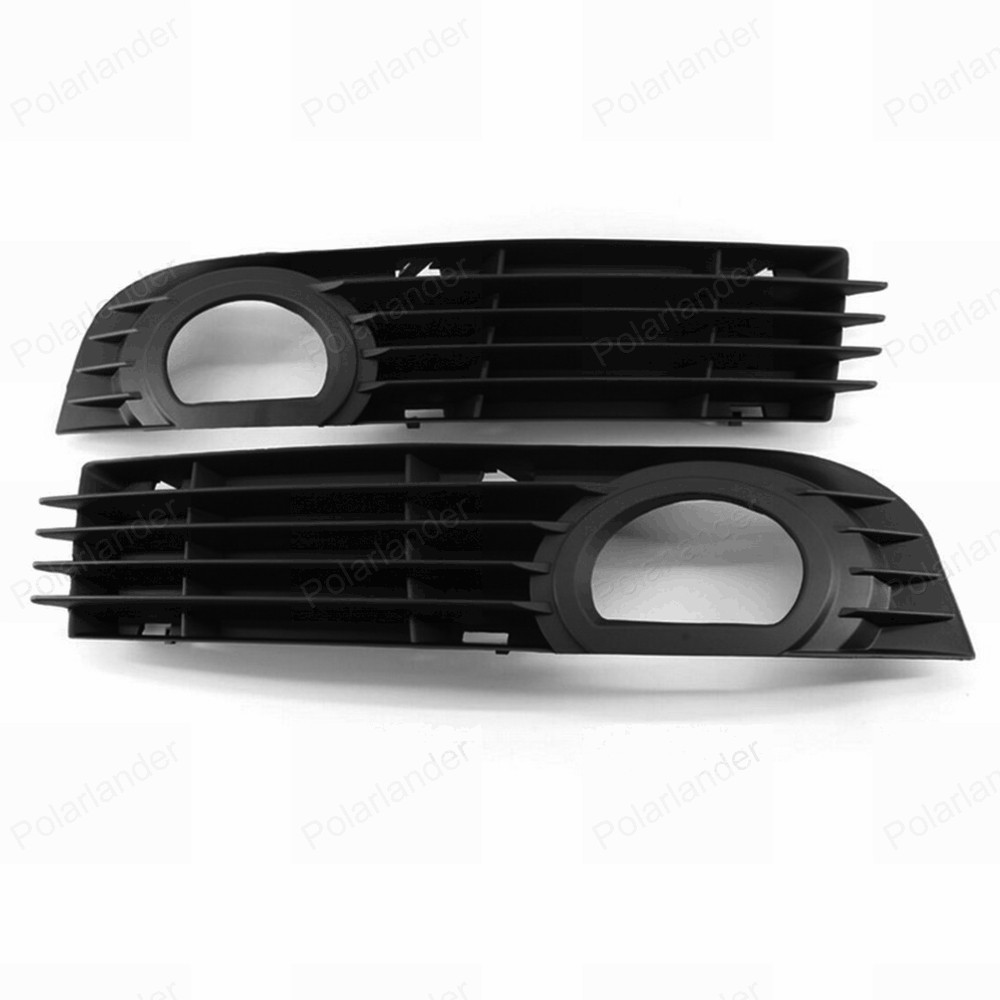 one pair Protective Front Left + Right Bumper Fog Light lamp Grille Covers for A/udi A8 S8 Q/UATTRO D3 2006 2007 2008 front bumper fog light with 12v 55w 9006 bulbs for vw passat b6 3c 2006 2011 left right oem 3c0941699b 700b 992