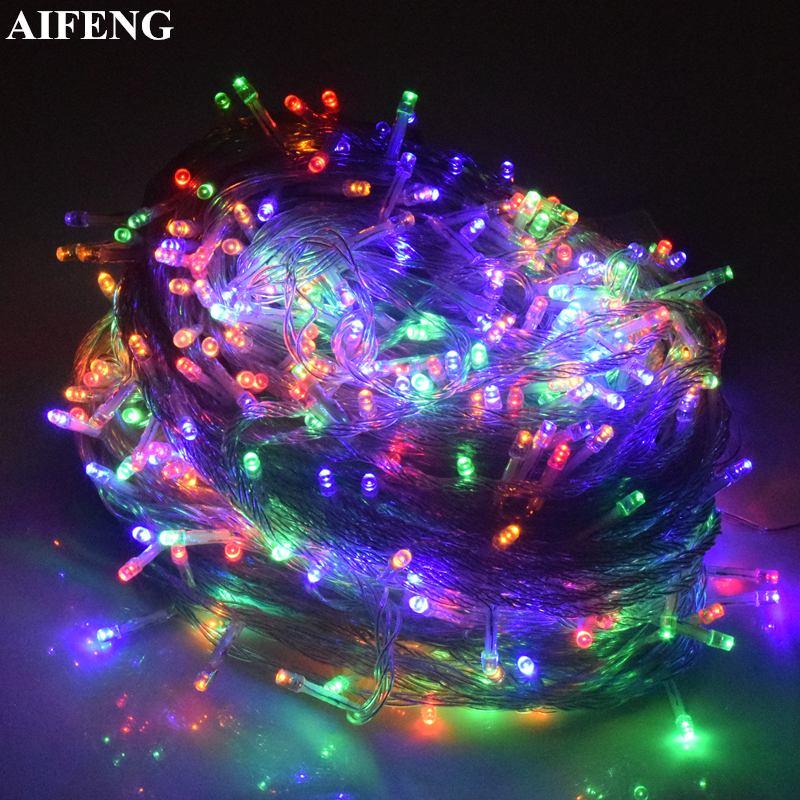 AIFENG Light String 5M 10M 20M 30M 50M 100M Christmas Lights 220V EU String Light Christmas Tree Decoration Garland Fairy Lights