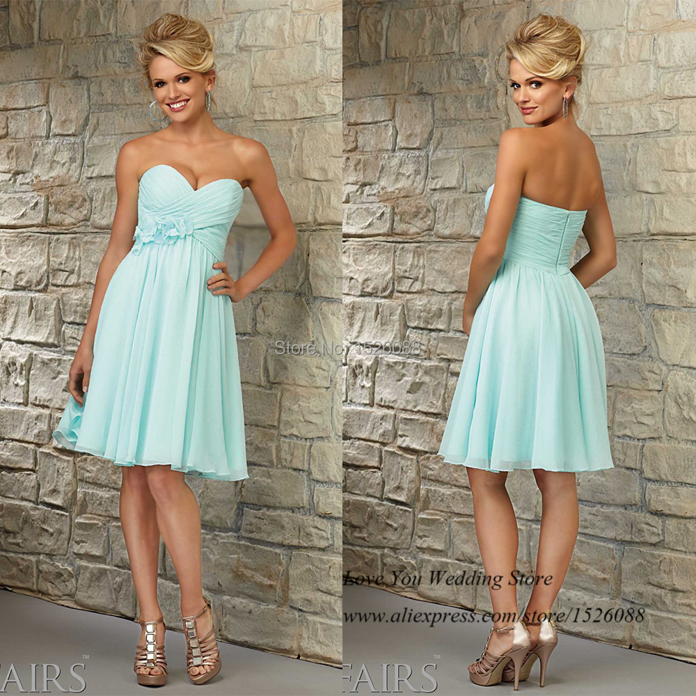 Online Get Cheap Short Mint Green Dresses with Flowers -Aliexpress ...