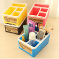 Modern Plastic Storage Box Home Desk Sundries Organizer Colorful Women Makeup Organizers Jewelry Cosmetic Organizer 18*13*10CM