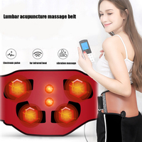 Electronic pulse acupuncture heating belt ab EMS acupuncture electro belt for Lumbago disc strain Lumbar pain Massage Instrument