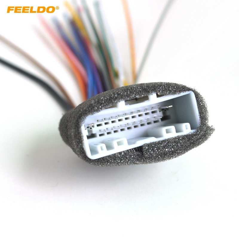 FEELDO Car 20Pin Audio Stereo Wiring Harness Adapter For Nissan/Subaru/Infiniti Install Aftermarket CD/DVD Stereo #2938