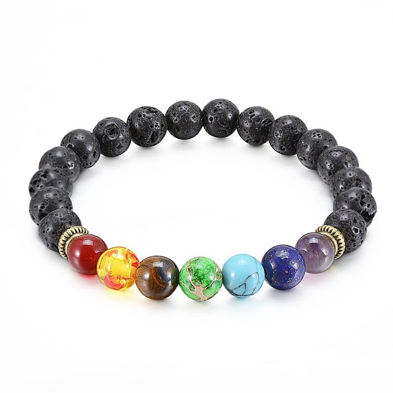 Купить браслеты из бусин чакр 7 цветов смешанные ювелирные украшения