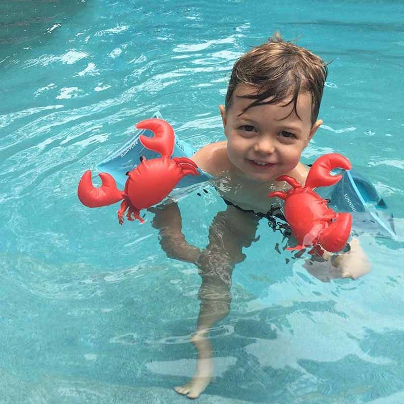 2018 New PVC Swimming Arm Rings Crab Flamingo Inflatable Bands Floatation Sleeves Water Wings Swimming Floats For Children