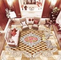 Free Shipping 3D Distinguished HD European Pattern Angel Rose Floor Painting Hotel Hallway Floor Wallpaper