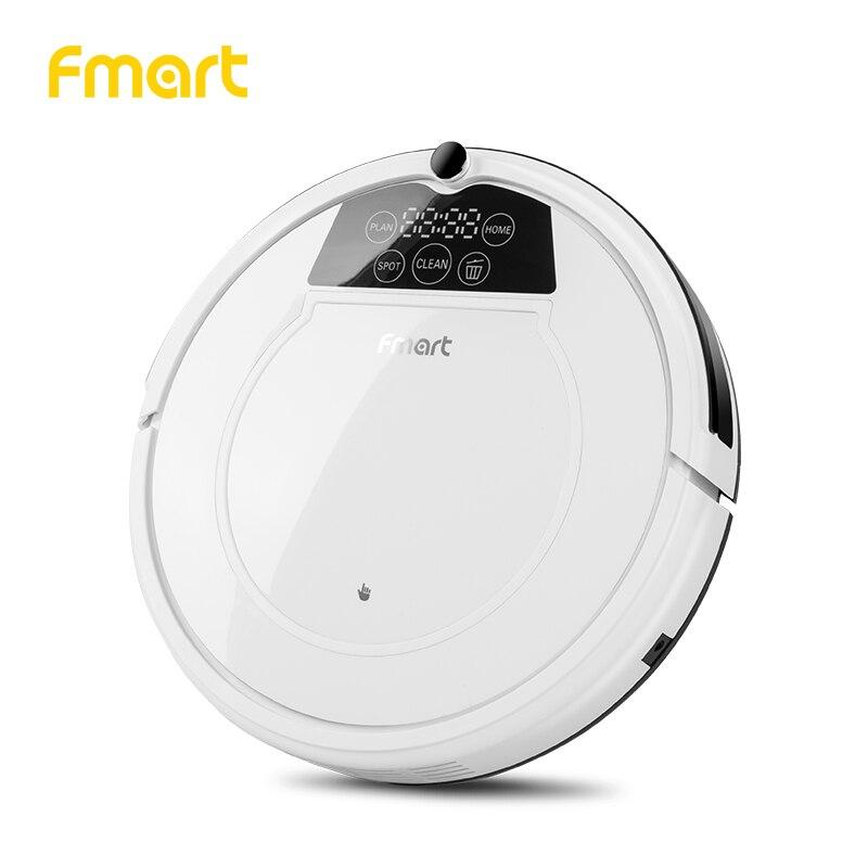 Fmart E 550W (S) робот пылесос уборки дома Приспособления 3 в 1 очистители всасывания + уборочная машина + Mop светодио дный Дисплей аспиратор