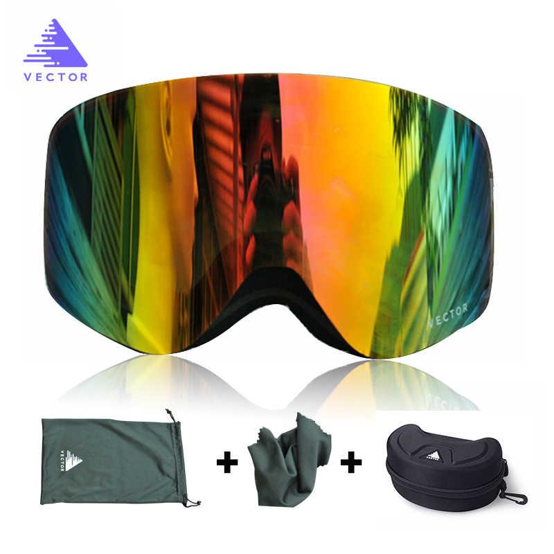 fc54bb75ccaf Бренд лыжные очки с случае двойной объектив UV400 Анти-туман Лыжный Спорт  очки снег очки