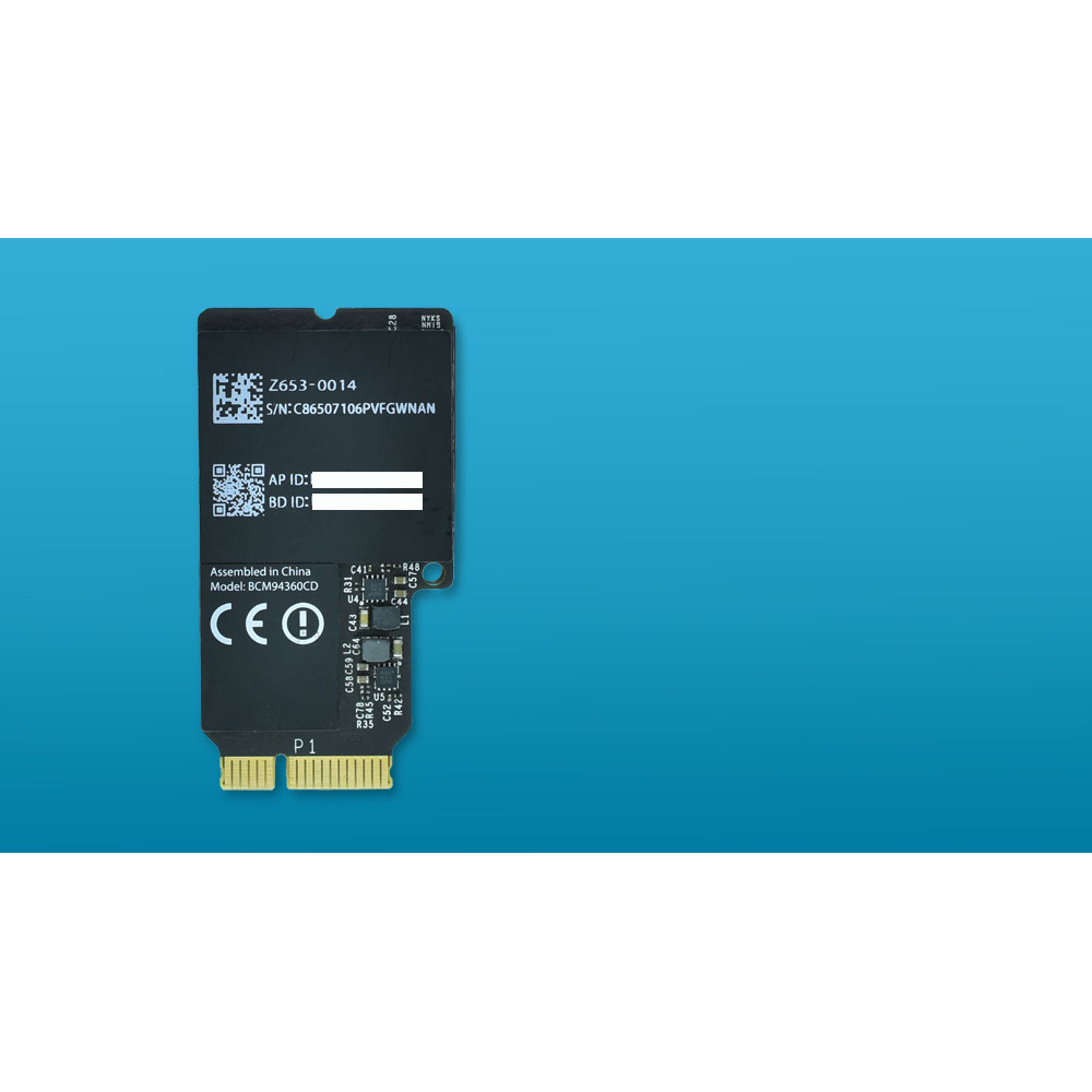 BCM94360CD 802.11ac WiFi carte Bluetooth 4.0 Carte Réseau pour Apple iMac A1418 A1419