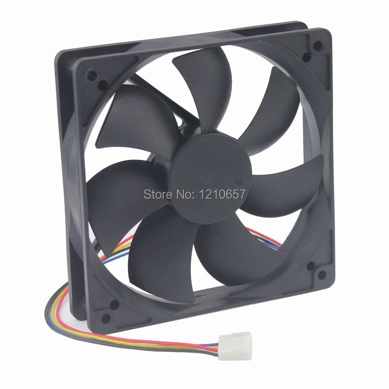 12cm 120mm 120x120x25mm 12V 4pin PWM Brushless Computer Case Cooler Cooling Fan
