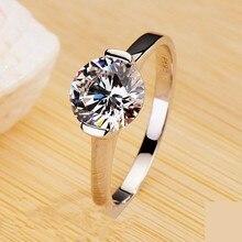 Специальное предложение 1CTW 6,5 мм G-H кольцо из муассанита тест положительная Гарантия 925 пробы Серебряное женское кольцо с синтетическими бриллиантами