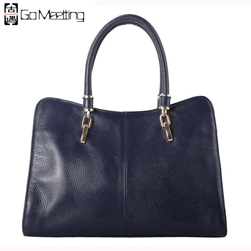 ФОТО Go Meetting European And American Fashion Genuine Leather  Women's Handbags Cowhide Shoulder Cross Body Bags Messenger Bags WS37
