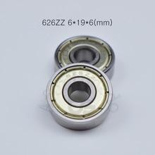 626zz 6*19*6(mm) 10pieces bearing Metal sealed  free shipping ABEC-5 chrome steel miniature bearings hardware Transmission Parts