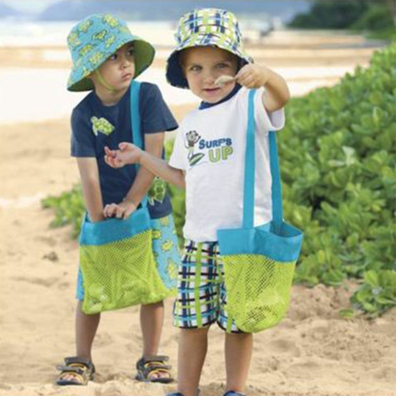 2019 Neue Kinder Kinder Sand-weg Tragetasche Strand Spielzeug Schwimmen Pool Mesh Tasche Tote Taschen