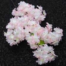 Simulation Cherry Blossom Branch Fake Sakura Encrypted Tree For Wedding Home Wall Decor DIY Artificial Twig Flowers