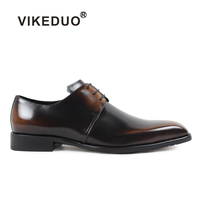 2018 Vikeduo Luxury Hot Men của Giày Derby Thương Hiệu Handmade Sơn Bên Da Chính Hãng Wedding Giày Dép Váy Thiết Kế Ban Đầu