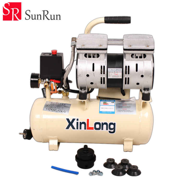 O óleo silencioso do compressor de ar livra 550 w 1380r/min 8l para a bolha da autoclave remove a máquina e a máquina de estratificação do vácuo da oca